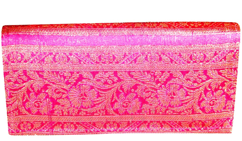 Indha zari border clutch Medium-0