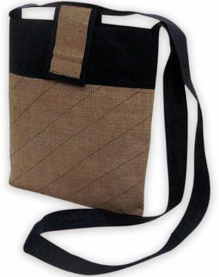 Indha Craft Men, Women Casual Brown Jute Sling Bag-0