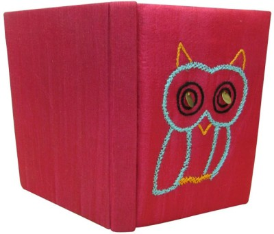 Indha Craft Owl Embroidery Pink A6 Diary Hand Sewn-507