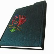 Indha Craft Peacock Embroidered A6 Diary Hand Sewn-0