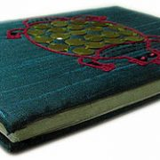 Indha Craft Turtle Embroidered A6 Diary Hand Sewn-0