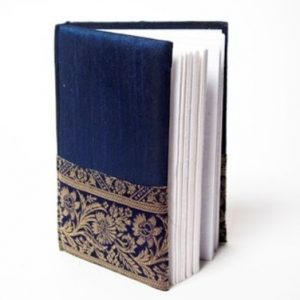 Indha Craft Zari Border A6 Diary Stitched Binding-0