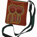 Indha Owl embroidery sling bag-0