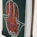 HANDMADE RECYCLE PAPER HAND OF FATIMA EMBROIDERY DIARY-0