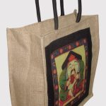 INDHA FORTUNE MONK PRINT JUTE LUNCH BAG-0
