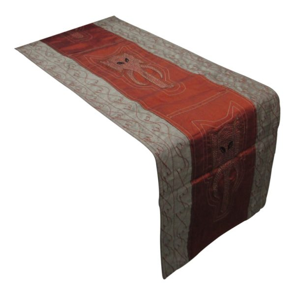 Table runner elephant trunk embroidery-0