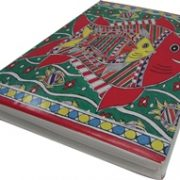 Indha Craft Handmade Recycle Paper Fish Print Diary-0