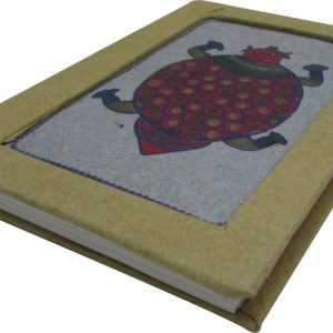 Indha Handmade Recycled paper turtle print diary-0