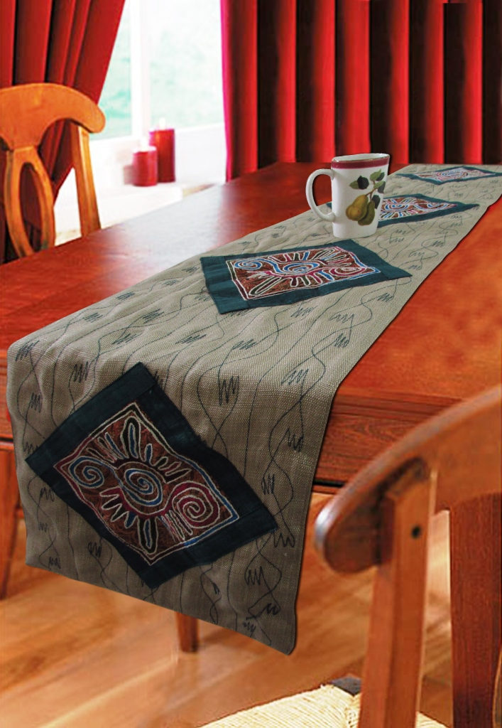 Table runner Smart No.1 embroidery-0