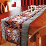 Table runner Deceit face print-974