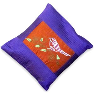 indha craft 12X12cushion cover sparrow emb-0