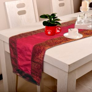 Indha Craft 182.9 cm Pink Table Runner-0