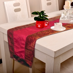 Indha Craft 182.9 cm Pink Table Runner-1101