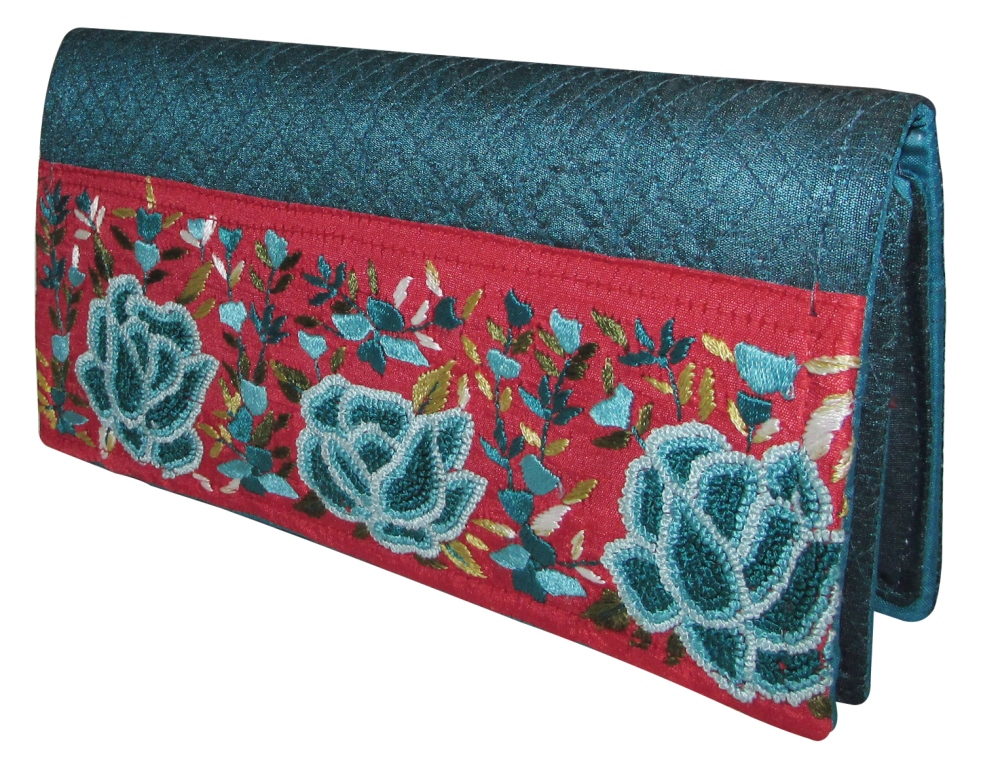 Indha Craft Persian Knot Embroidery Casual/party Clutch Purse-0