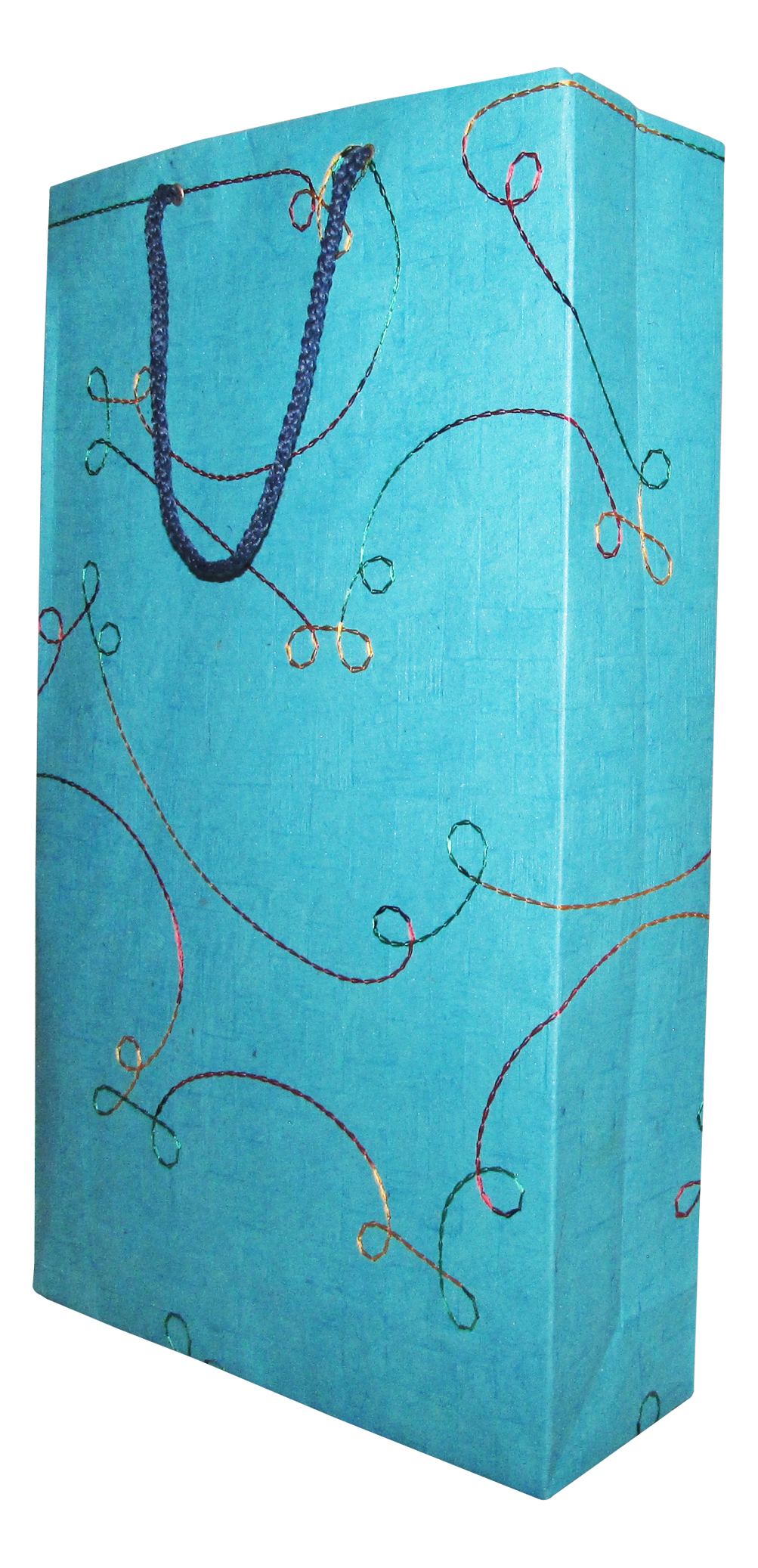 Recycle Paper Bag in Embroidered Chatai Paper ( Set of 10)-0