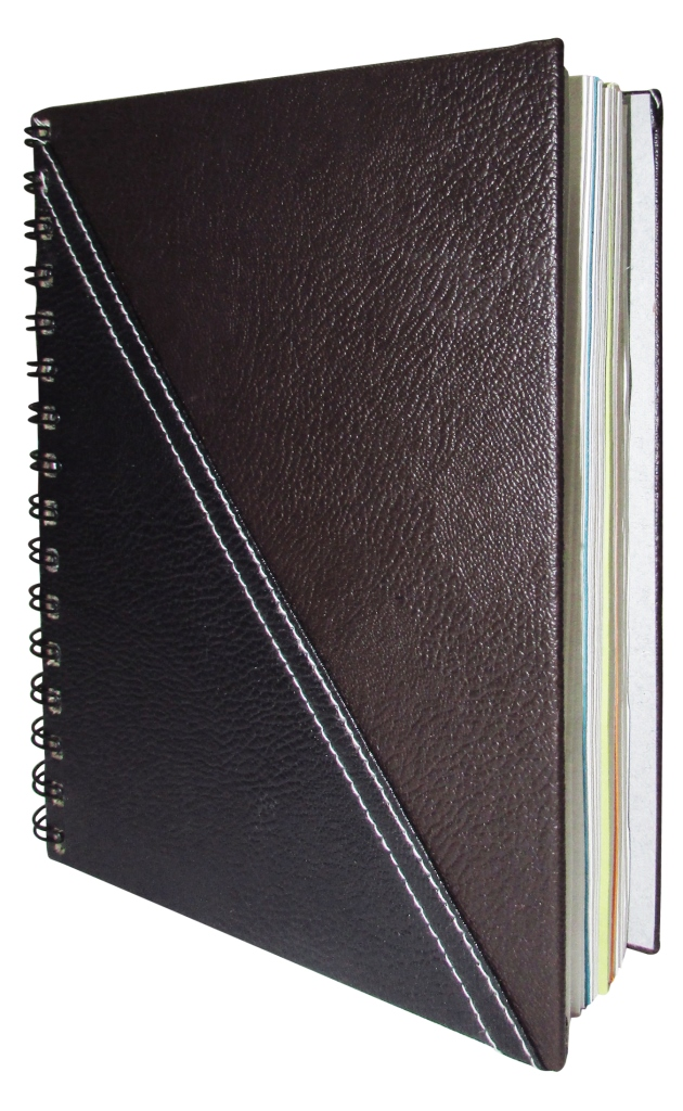 Indha Craft Handmade Recycled Paper 6x8 Inch Note Pad Spiral Bound-0