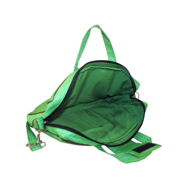 Indha Women 15.0″ Laptop Bag in Fish Design Embrodery Patchwork Green Color-1922