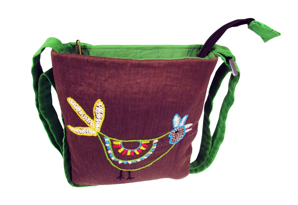 Indha Sparrow embroidery sling bag-0