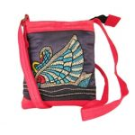 Indha Swan embroidery sling bag-0