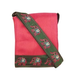 Indha Women Sling Bag In Elephant Design Embroidery patch.-1927