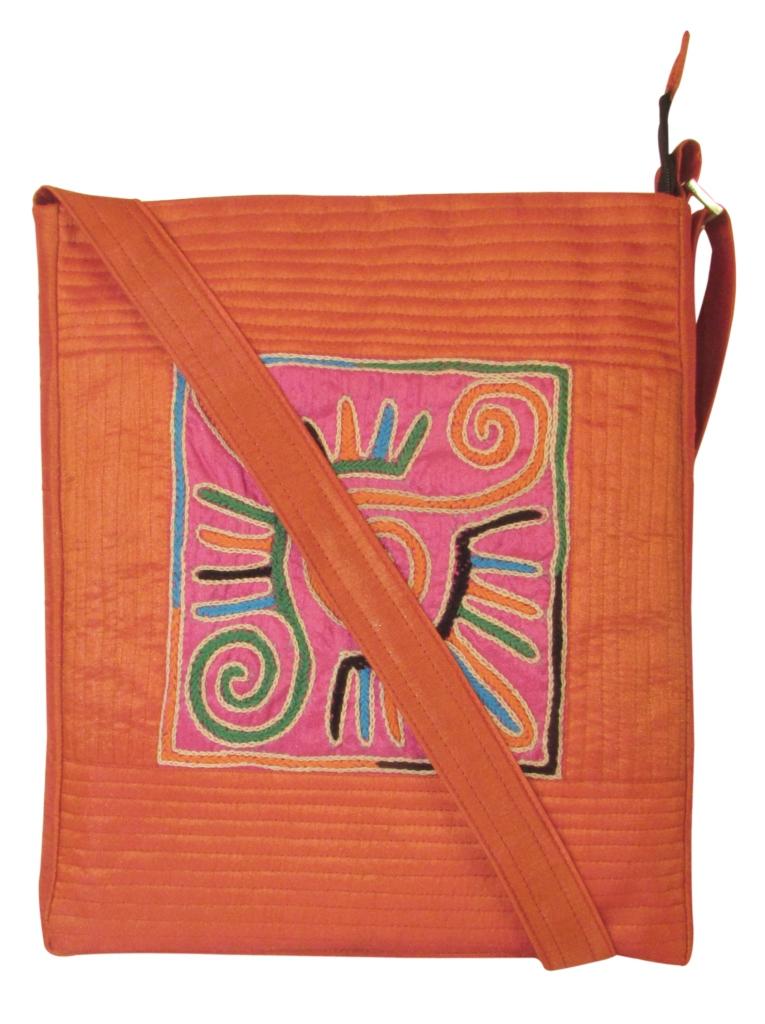 Indha Craft Smart No.1 Patch Embroidered Design Sling Bag Maroon Color-0