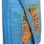 Indha Craft Sling Bag Smart No.1 Design Embroidered Patch Sky Blue Color-1947