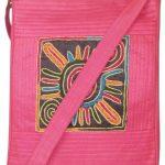 Indha Craft Smart No.1 Patch Embroidered design Sling Bag pink Color-0