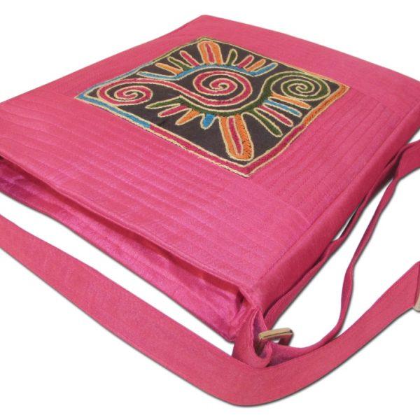 Indha Craft Smart No.1 Patch Embroidered design Sling Bag pink Color-1954