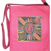Indha Craft Smart No.1 Patch Embroidered design Sling Bag pink Color-1955