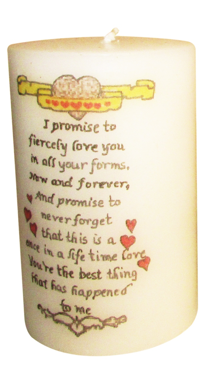 Promise Day Candles with an elegant hand-made Gift  box-0
