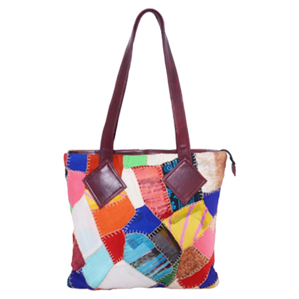 7bfda6a7af Indha Craft Multicolor Cotton Patchwork Shoulder Bag Handbag Ideal For  Girls Women - Curated online shop for handcrafted products made in India by  women ...