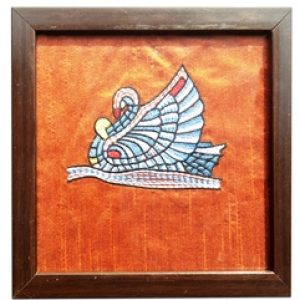 Swan Embroidery Glass Coaster