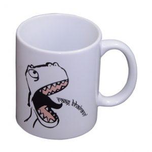 Coffee Mug Dinosaur Print