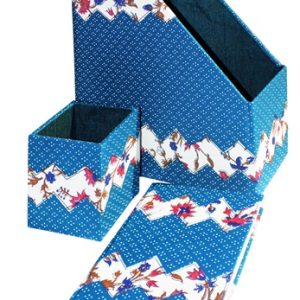 Applique work Magazine Holder, Pen Stand and Diary Combo Set