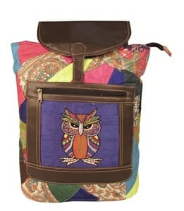 Owl Embroidery 14 L Patchwork Backpack Bag - Curated online shop for ... 0fc361230053f