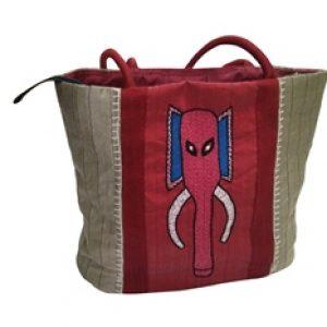 Womens Handbag Elephant Trunk Emboridery