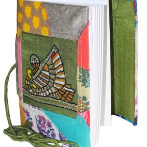 Swan Embroidery Cotton Patchwork Folding diary