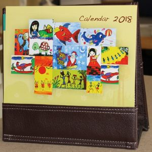 2018 Calendar With Rexine Pouch