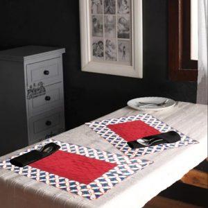 Indha Niwad Block Print Set Of 6 Table Mat
