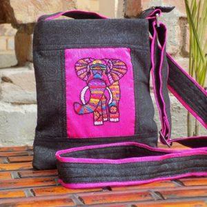 Elephant Embroidery Small Sling Bag