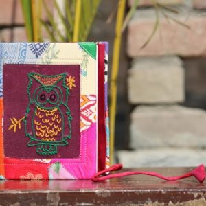 Owl Embroidery Cotton Patchwork Diary