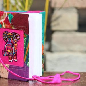 Hand Elephant Embroidery Cotton Patchwork Diary