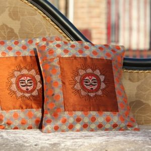 Sun Handembroidered Cushion Cover