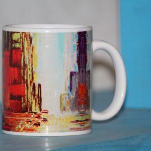 Everyday Coffee Mug With Handmade Block Print Box