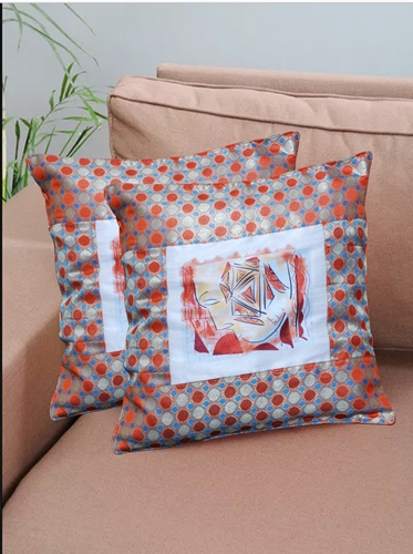 cushion cover face print