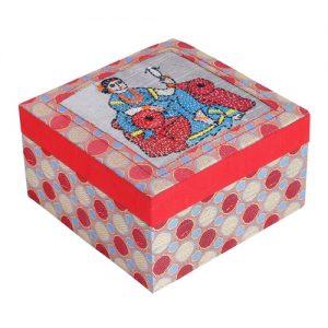 Hand Embroidered Brocade Jewellery Box