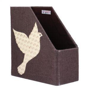 Indha Craft Flying Bird Motif Jute Books/Magazine Holder