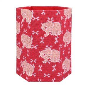 Indha Craft Unfoldable Jute Block Print Paperbin/Dustbin