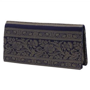 Navy Blue Colour Ethnic Clucth Purse For Women/Girls
