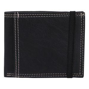 Black Colour Artificial Leather Wallet For Men/Women